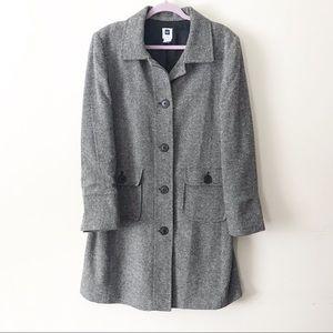 Gap || Tweed Wool/Silk Blend Trench Coat Size  XL